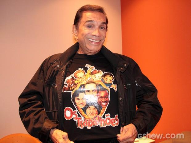 Dedé Santana comenta o espaço do humor circense no Brasil (Foto: TV Globo/Altas Horas)