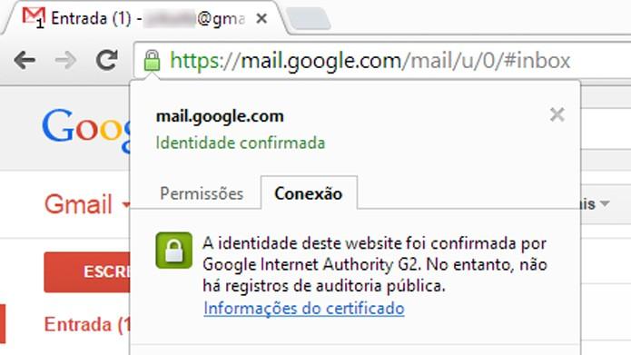 Cadeado, https e cor verde são indicativos de segurança em conexão (foto: Reprodução/João Kurtz)