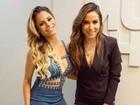 Anitta brinca com Lexa em programa: 'Tá tentando roubar meu lugar'