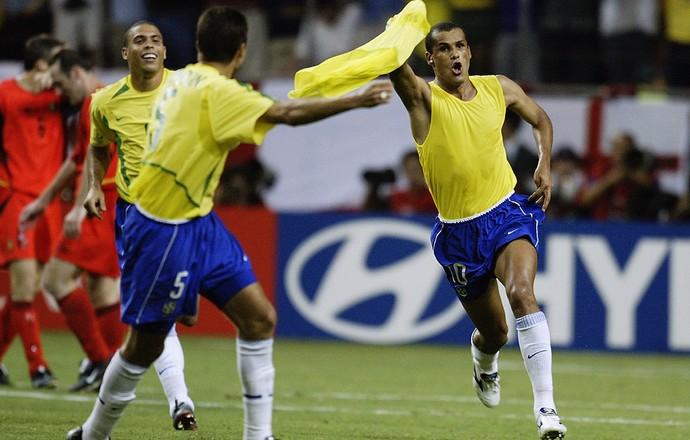 rivaldo brasil bélgica copa do mundo 2002 (Foto: Agência Getty Images)