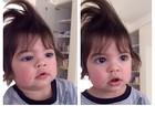 Shakira se diverte brincando de 'cabeleireira' com o filho e posta foto