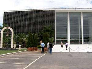 Estacionamento da Assembleia Legislativa de São Paulo terá vagas disponíveis para visitantes do Parque Ibirapuera aos finais de semana e feriados (Foto: TV Globo/Reprodução)