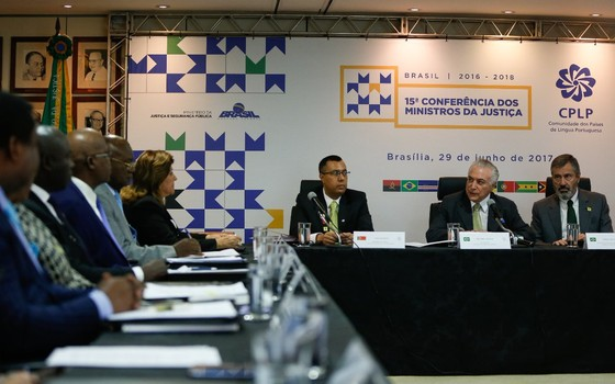 Temer abre conferência de Países da Língua Portuguesa (Foto: reprodução/Twitter)