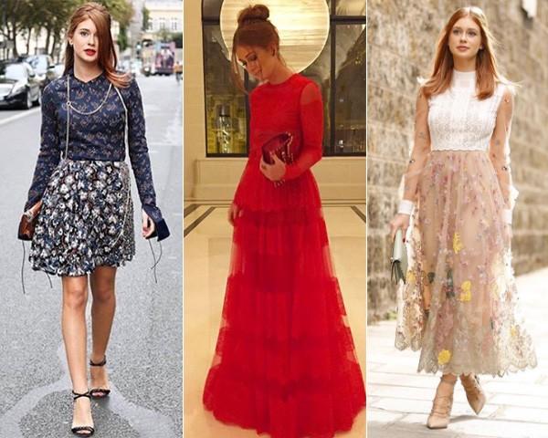 Da esquerda para direita: Marina veste Dior e vestidos Valentino (Foto: Reprodução/Instagram)