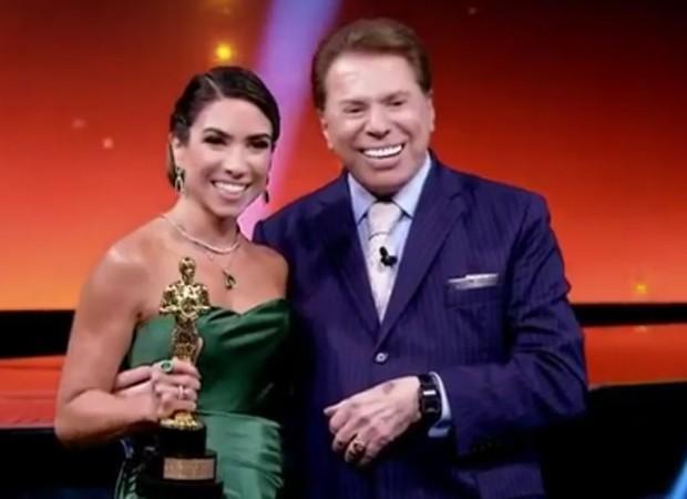 Patricia Abravanel e Silvio Santos no Troféu Imprensa (Foto: Reprodução/Instagram)