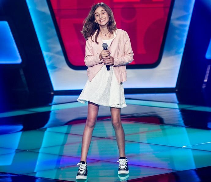 Luna Bandeira canta 'I'll Be There' nas Audições de The Voice Kids (Foto: Isabella Pinheiro/Gshow)