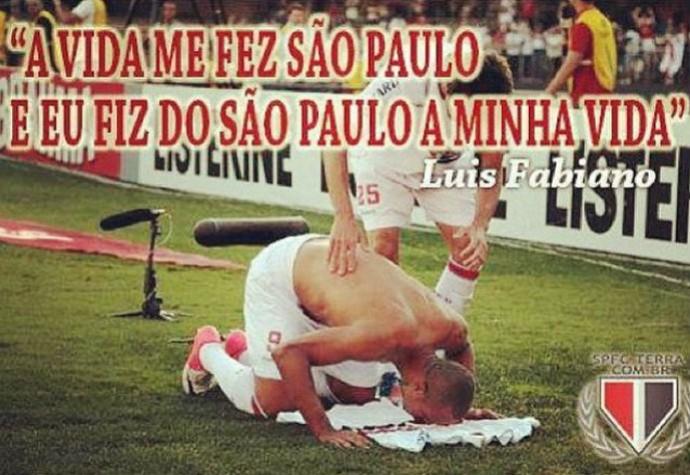 Luis Fabiano faz juras de amor ao São Paulo em rede social (Foto: Reprodução / Facebook)