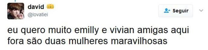 vivian e emilly (Foto: twitter)