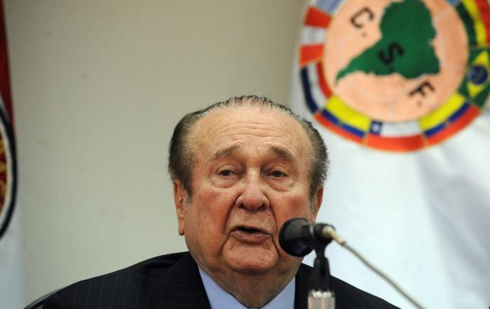 Nicolás Leoz, presidente da Conmebol  (Foto: Agência AFP)