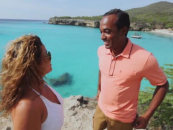 No Como Será de 14/11, o Hoje é dia de... viaja até Couraçao, ilha no Caribe (Foto: Globo)