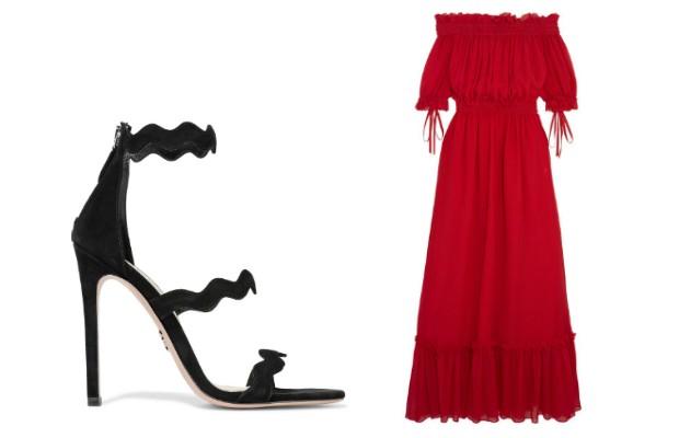 Sandália e vestido usados por Kate Middleton somam quase R$11 mil (Foto: Reprodução/net-a-porter)