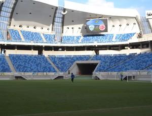 Arena das Dunas - Alecrim - treino - telão Alecrim x América-RN (Foto: Jocaff Souza/GloboEsporte.com)