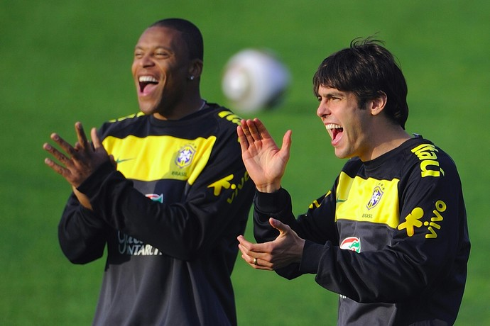 Julio Baptista Kaká Copa do Mundo 2010 (Foto: Getty Images)