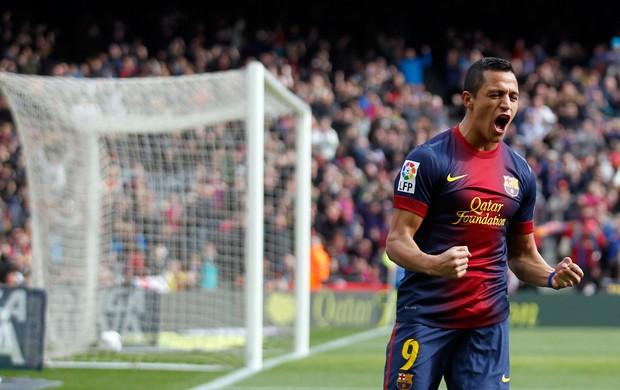 Alexis Sanxhez gol Barcelona (Foto: Reuters)