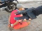 Suspeito é preso com pistola e munições em Itabaiana