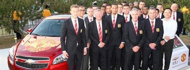 chevrolet novo patrocinador do Manchester united (Foto: Divulgação / Site Manchester United)