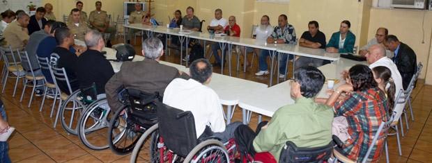Comandante-geral da BM se reuniu com representantes de entidades representativas (Foto: Sargento João Batista Xavier, Divulgação/Brigada Militar)