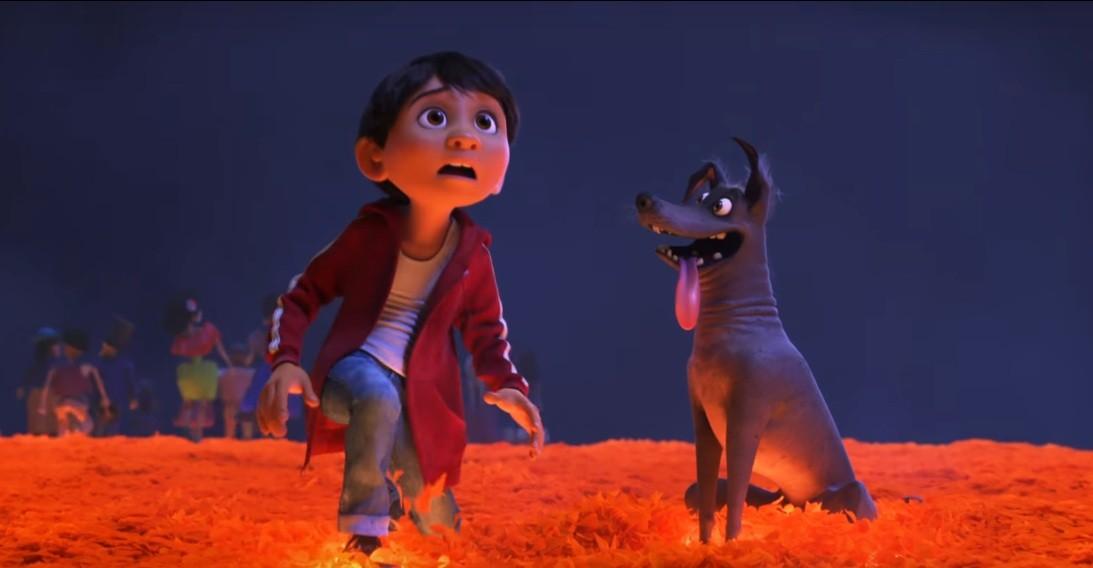 Miguel e seu cachorro Dante (Foto: Divulgação Disney)