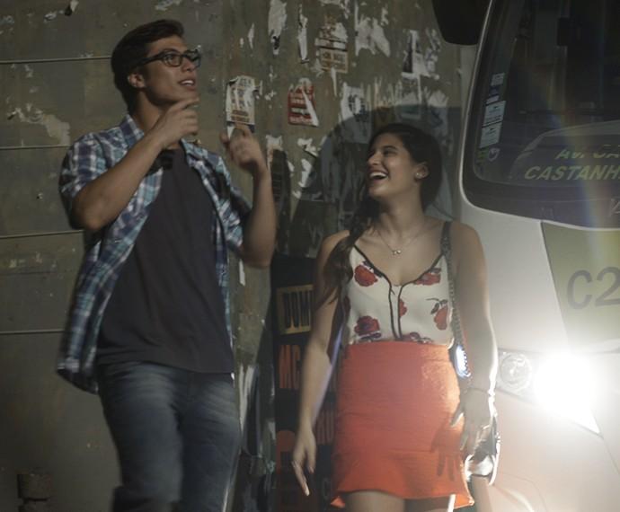 Livipe se diverte após encontro no cinema (Foto: TV Globo)
