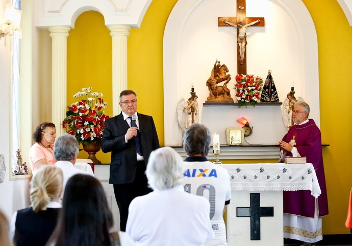 Missa de sétimo dia no Corinthians - presidente Mário Gobbi (Foto: Rodrigo Coca/Agência Corinthians)