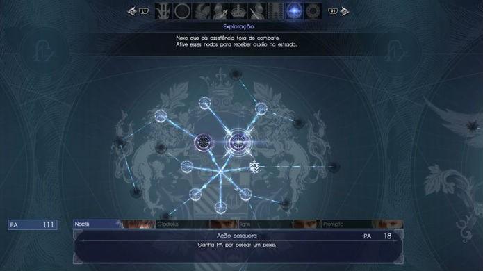 Final Fantasy XV: Cada ramo da árvore habilita um bônus diferente (Foto: Reprodução / Thomas Schulze)