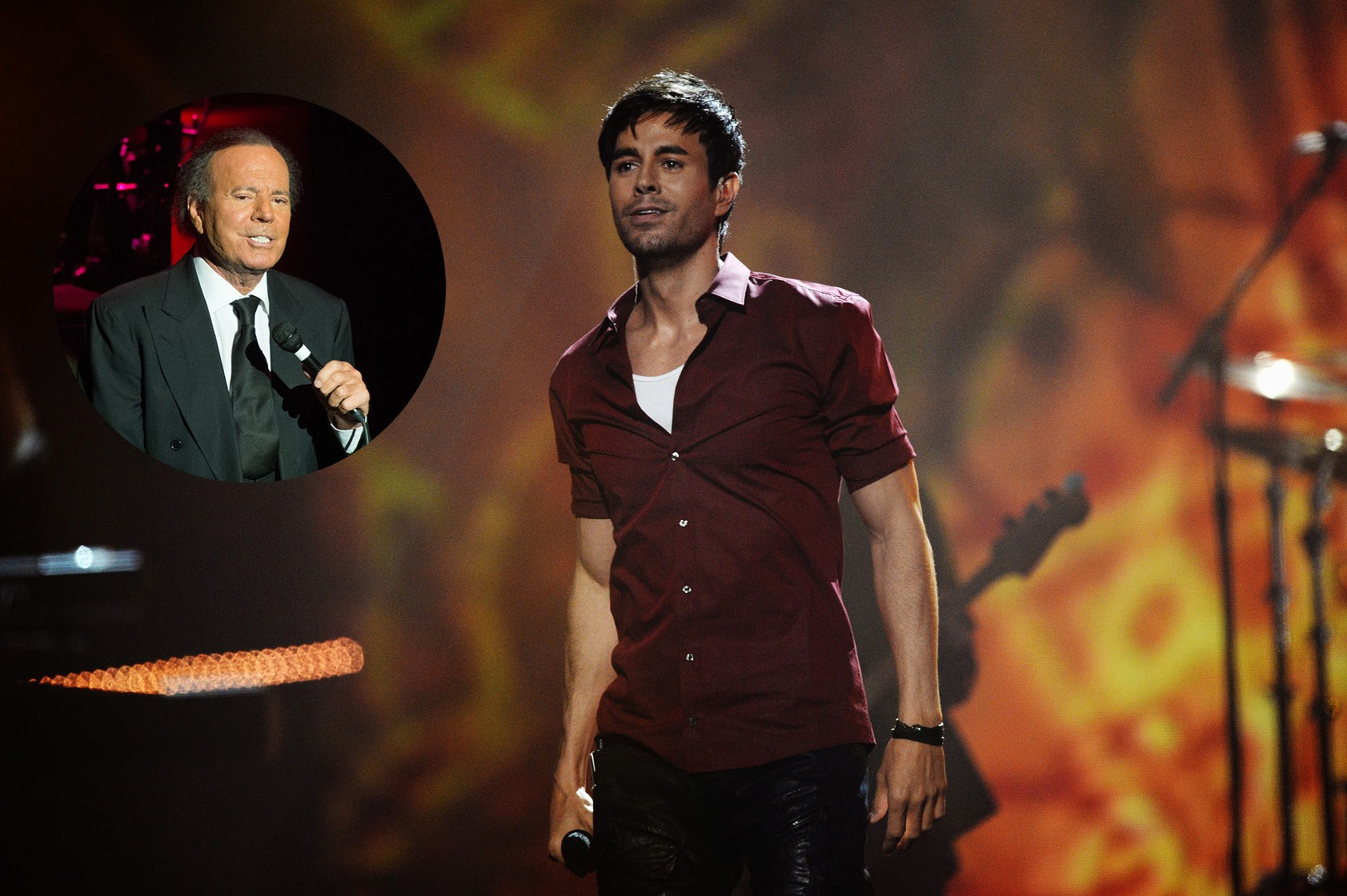 Enrique Iglesias e Julio Iglesias (Foto: Getty Images)