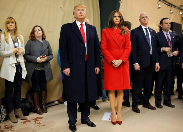 Donald Trump e Melania vão a evento oficial (Foto: Reuters)