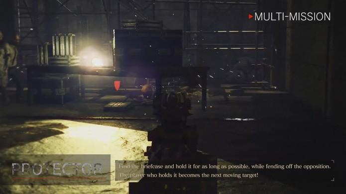 No modo Protector qualquer um que ficar com a maleta se torna o alvo principal em Umbrella Corps (Foto: Reprodução/YouTube)
