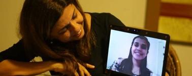 Mães usam web para diminuir saudades de filhos (Ingrid Bico/G1)