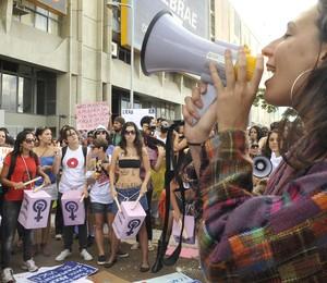 Donas do próprio corpo: a maioria dos brasileiros acredita que a mulher deve satisfazer os desejos sexuais do marido e que vestir roupa curta justifica o estupro. Na foto, participantes da Marcha das Vadias (Foto: Antonio Cruz/ABr)