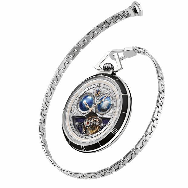 bf938d323a2 Edição limitada de relógio de bolso comemora os 110 anos da Montblanc