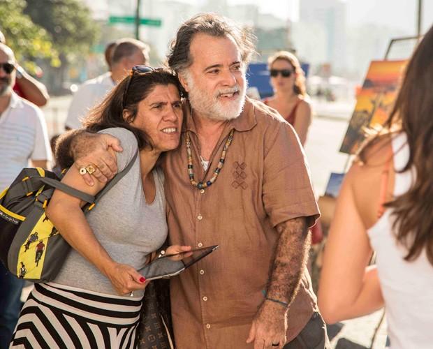 Tony Ramos grava nova novela das nove (Foto: Inácio Moraes/Gshow)