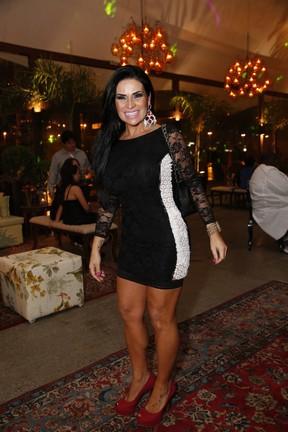 Solange Gomes em evento na Zona Oeste do Rio (Foto: Felipe Assumpção/ Ag. News)