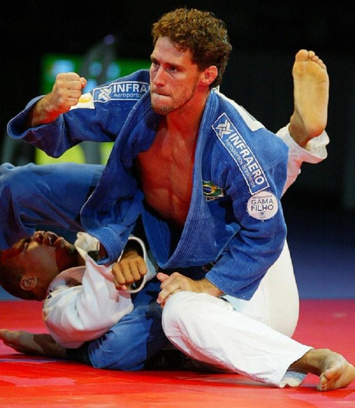 Flávio Canto em ação no judo  (Foto: Arquivo Pessoal)