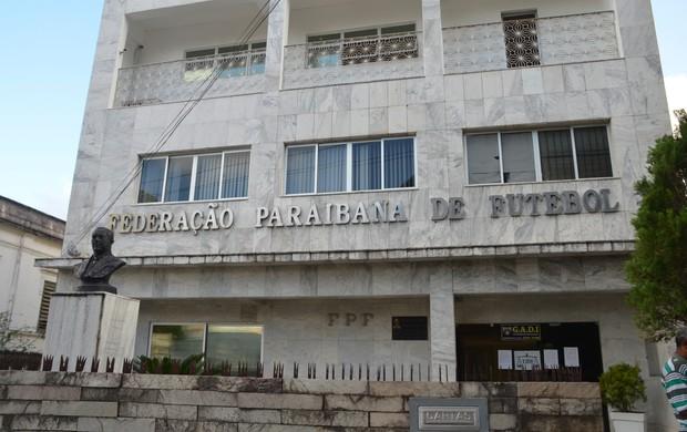 Fachada da Federação Paraibana de Futebol