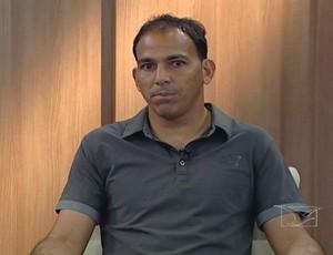 Rodrigo Ramos esteve na redação do GLOBOESPORTE.COM/MA e participou do Bom Dia Mirante (Foto: Reprodução/TV Mirante)
