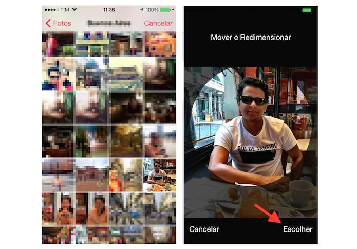 Definindo uma foto de perfil para o Apple Music pelo iPhone (Foto: Reprodução/Marvin Costa)
