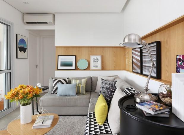5 dicas para decorar apartamentos pequenos casa e jardim for Decoracion casa 90m2