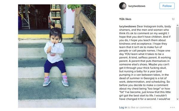 Foto de Marlow, filha de Alanna Masterson (Foto: Instagram)