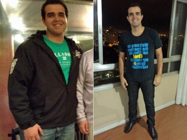 """""""Agora tenho cada vez mais vontade de manter e de me sentir cada vez melhor"""", finaliza Vinícius, com menos 25 kg na balança (Foto: Arquivo pessoal)"""
