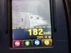 Carro é flagrado a 100 km/h a mais do que o permitido na BR-282 em SC