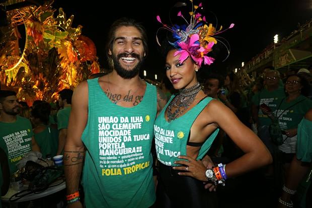 Saulo Bernard e Sheron Menezzes  (Foto: Celso Tavares / Ego)