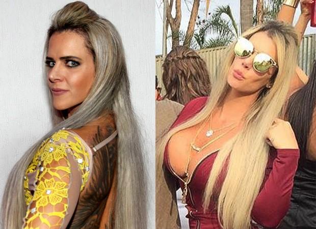 Denise Rocha - Antes e depois (Foto: Instagram / Reprodução)