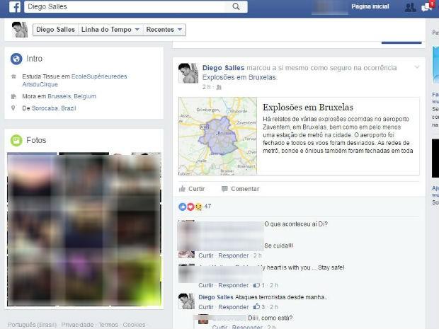 Jovem de Sorocaba escreveu nas redes sociais que está seguro após explosão (Foto: Reprodução/Facebook)