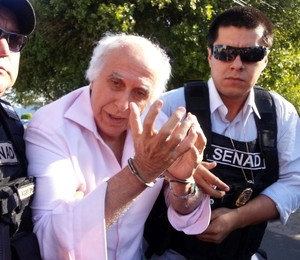 O ex-médico brasileiro  Roger Abdelmassih preso no Paraguai, em operação da Secretaria Nacional Antidrogas paraguai com a Polícia Federal brasileira (Foto: Divulgação/Senad/Efe)