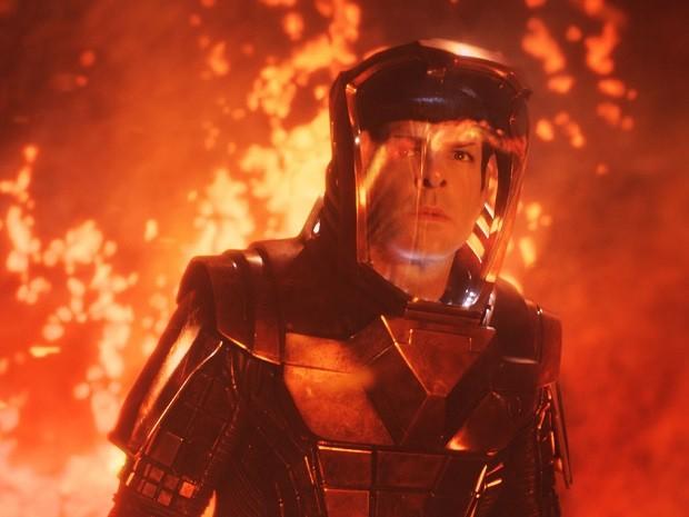 Zachary Quinto interpreta o vulcano Spock em 'Star Trek: Além da escuridão' (Foto: Divulgação)