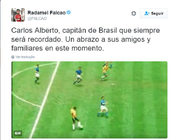 Falcao Garcia Carlos Alberto Torres (Foto: Reprodução / Twitter)
