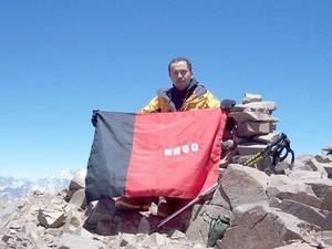 Era a terceira vez que o paraibano Josenildo Correia da Silva escalava o Aconcágua (Foto: Divulgação/Arquivo Pessoal)