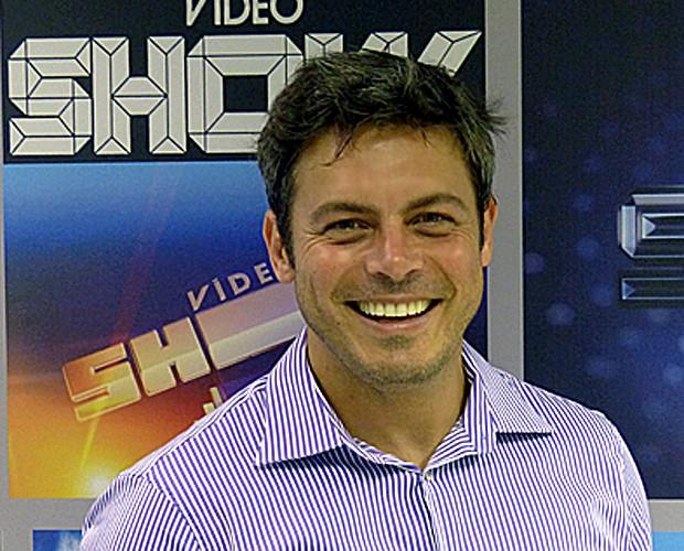 Luigi Baricelli visita produção do Vídeo Show (Foto: Vídeo Show/TV Globo)