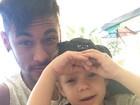 Neymar aproveita fim de semana com o filho